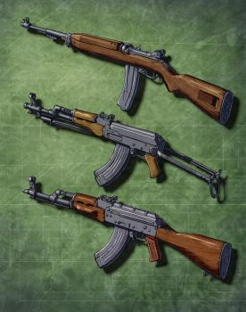 Assault Rifles (In the Cold) 1 by Hoborginc