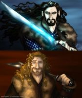 The Hobbit: Thorin and Fili Close Up by wolfanita