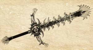 Elemental Blade: Fire Drawing by Unkn0wnfear