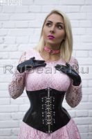 Black latex and pink laces by latex-rat