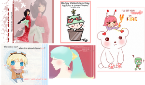 LoL V-day Cards by Ririki