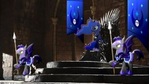 Luna Takes The Iron Throne by Macgrubor