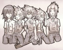 Keyblade gang by FeedTheBirds