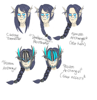 hairstyles + helm by riotfury