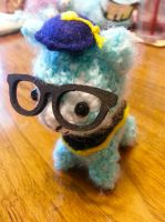 Dr. Kawaii Alpaca Graduation Amigurumi Crochet 1 by Spudsstitches
