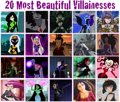 20 Most Beautiful Villainesses by cari28ch3