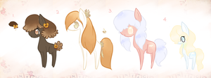 CLOSED : Fleur D' Fluff Ponies by Laurel3aby