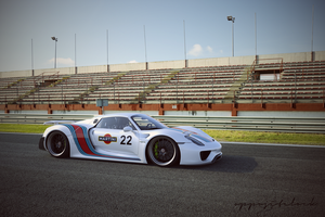 2014 Porsche 918 Martini by oppositelock
