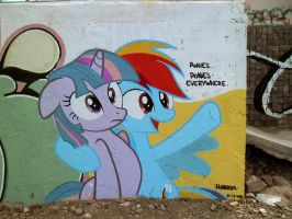 Ponies Everywhere Graffiti (Another View) by ShinodaGE