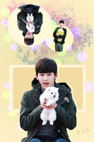 Hoya with a dog by KpopGurl