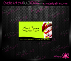 Business Card_Nail Tech by aCLASSdesignz