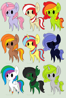 Pony Adoptables by DerpyHooves450