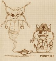 Dschinchi and Piratchi by wolf-lion