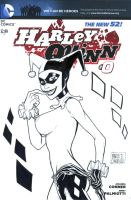 HARLEY QUINN sketch cover commission by mdavidct