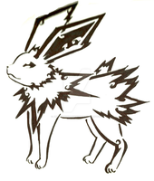 Tribal Jolteon by amandanoelledesign