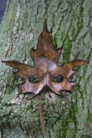 Brown Sugar Maple Leather Mask by OsborneArts