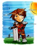 .:Chibi Guy colored:. by Ariall