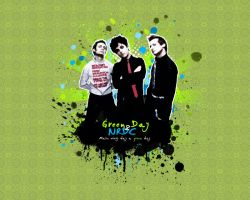 Green Day + NRDC wallpaper 4 by alexloony
