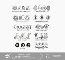 Pack tipografias Easter. by creativewilde