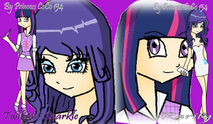 Twilght Sparkle and Rarity as human by Princess-CoCo-154