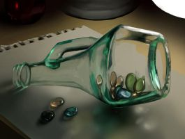 Glass Light And Marbles Study by charfade