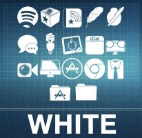 White iCons for Black n' White by ~MDGraphs by TheSecretWhisper