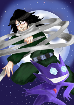 BNHA x Pokemon Series #1 Aizawa and Sableye by ImariSafari