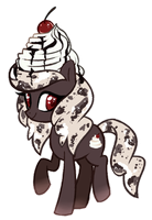 Pony Adoptable (Closed): Whipped Cookies n' Cream by Kaji-Tanii
