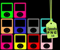 Pack Ipods png (ZIP) by Carol05