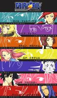 Fairy Tail: Rise of the Descendants Characters by astrayeah