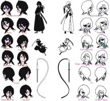 Rukia Hollow Expression by Alice-WhiteRabbit
