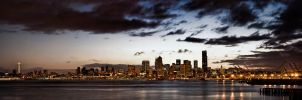Seattle Skyline Alki HDR by UrbanRural-Photo