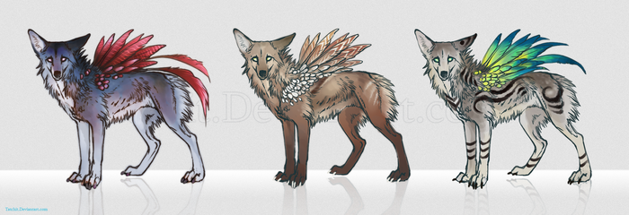 Feonix Adoptables set2 by NukeRooster