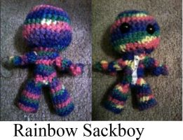 Rainbow Sackboy by Noleetida