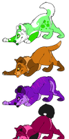 Puppy Adoptables Auction (CLOSED) by DetritusDroid
