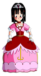 Dragon Ball GT =Pan in a Pokemon princess dress= by Krizeii