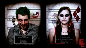 Mugshot Joker and Harley by FistEastwood