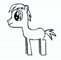 First attempt at pony are on computer by Pencil-Sketch-Pony