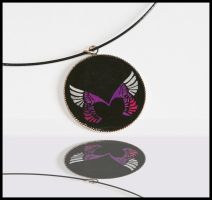 Winged heart pendant by DarkAngels777