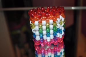 Hugs Rainbow Cuff by amyswlee