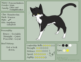 Poisonwhiskers Charactersheet - OC Warriors by Niutellat