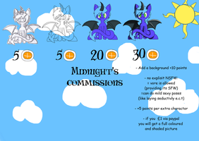 Middy's Amazing Art studio Price list. by The-Midnight-Sparkle