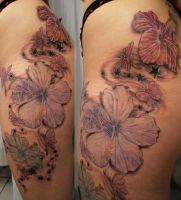 Butterflies Flowers ready by 2Face-Tattoo