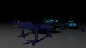 Bioluminescent Frogs by alewism