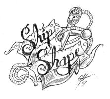 Ship Shape Tattoo Flash by TheMacRat