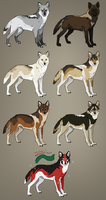 Custom Wolves 2 by Pred-Adopts
