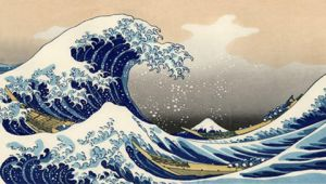 Tsunami by Hokusai PSP Wall 01 by SulphurFeast