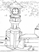 clock tower -incomplete- by Mollykittykat