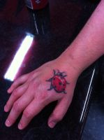 lady beetle bug tattoo design by CalebSlabzzzGraham