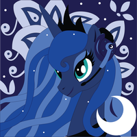 Commission: Gamer Luna Shadowbox Mock-up by The-Paper-Pony